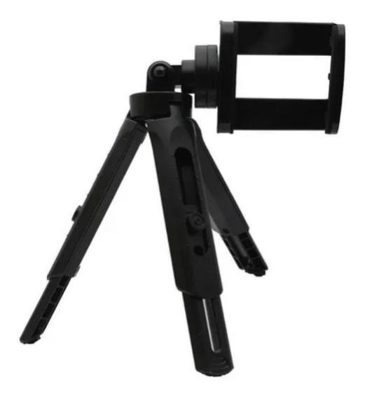 Tripe Suporte Para Celular Câmera Mesa E Mão + Adaptador