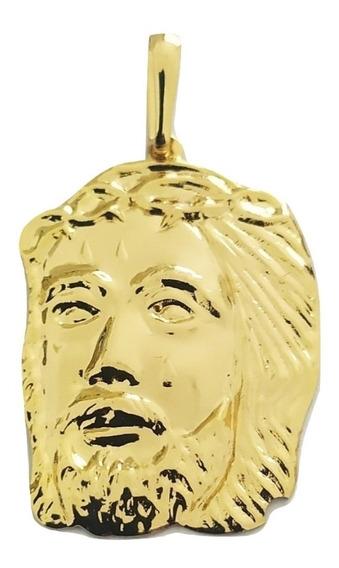 Pingente Rellicari Face De Cristo Banhado A Ouro 18k R007