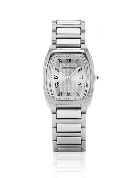 Relógio De Pulso Jean Vernier Jv01593 Unissex Prata