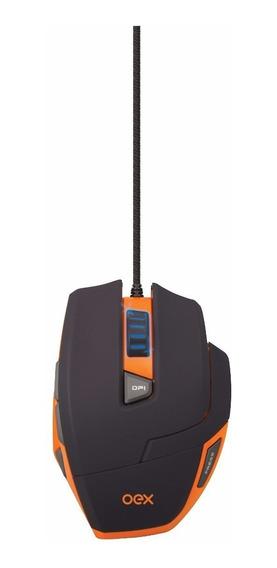 Mouse Gamer Oex Hunter Ms303 Ajuste De Peso Usb 3200dpi Novo