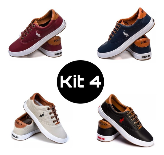 Kit 4 Pares - Tênis Polo Our Casual Coro Unissex Atacado