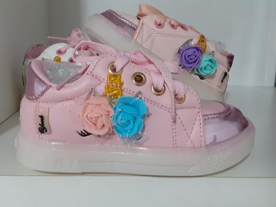 Zapatillas Unicornio Con Luces!!