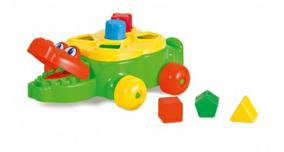 Brinquedo Educativo Didático Jacaré Junior Calesita Bebê