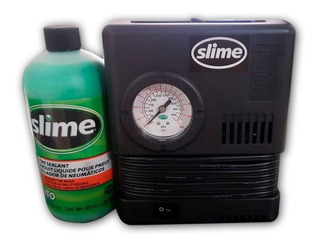 Compresor Aire Slime Kit 12v + Sellante 16oz Solomototeam