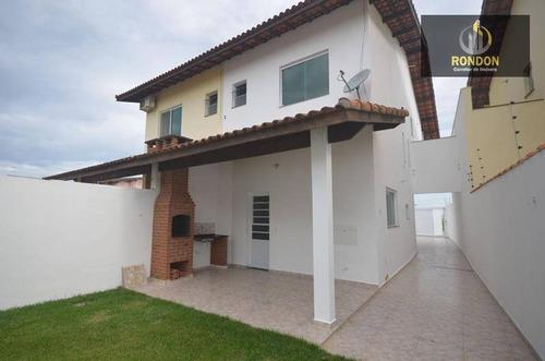 Sobrado Com 2 Dormitórios À Venda, 107 M² Por R$ 349.000 - Cibratel Ii - Itanhaém/sp - So0029