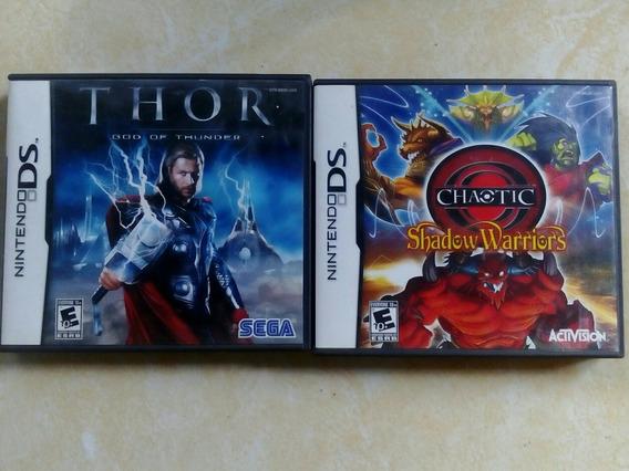 Nintendo Ds, Thor + Shadow Warriors, 2 Juegos Seminuevos