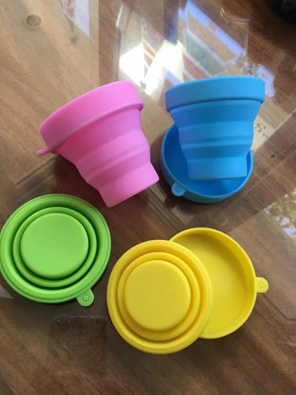 Vasos Silicon Reutilizables Plegables Lote 8 Piezas Surtídos