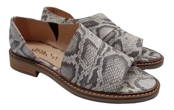 Sandalias Chatitas Flexible Abierta Cuero Mujer Zapato 145mk