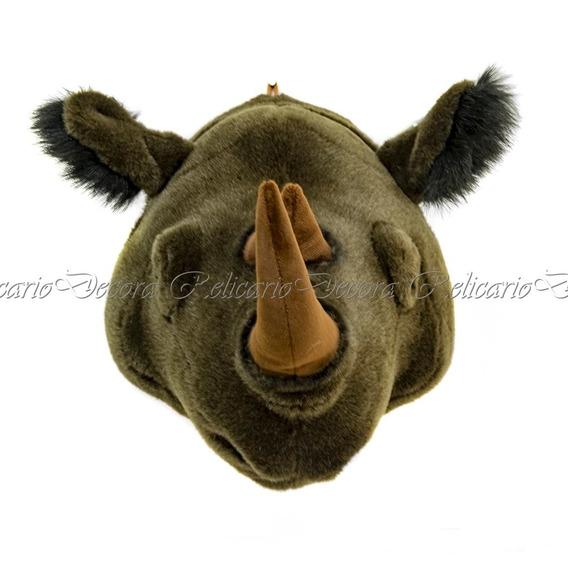 Cabeça De Rinoceronte Pelúcia Decorativo Lindos Detalhes Rea