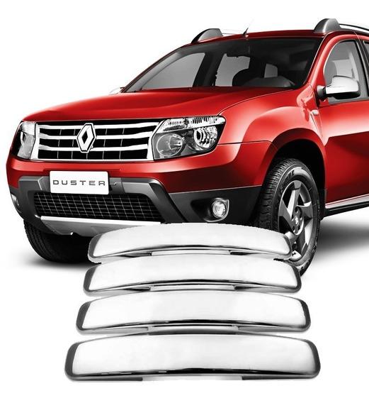 Kit Aplique Capa Cromada Macaneta Renault Duster 2010/2015