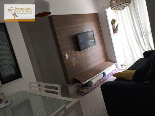 Imagem 1 de 6 de Apartamento Com 2 Dormitórios À Venda, 50 M² Por R$ 259.000,00 - Ponte Grande - Guarulhos/sp - Ap0670
