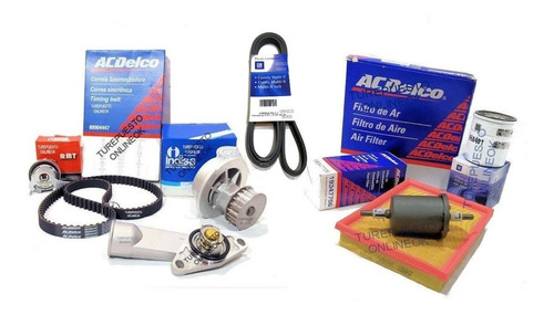 Kit Distribucion + Poly-v + Kit Filtros Chevrolet Corsa 1.4