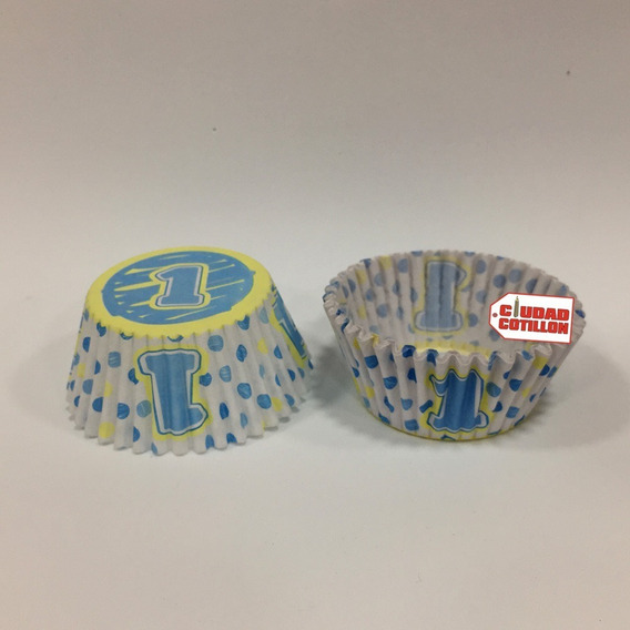 Pirotines Cupcakes Estampados Variados X15 U - Cc