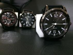 Relógio Masculino Multi Marcas Com Pilha Em Estoque