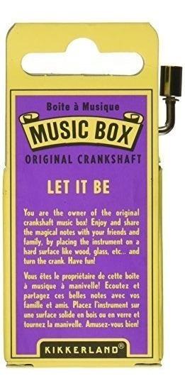 Kikkerland Juegos Caja Musical Let It Be Melody Manivela