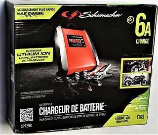 Cargador De Baterias Schumacher De 6 A Baterias Ion-litio