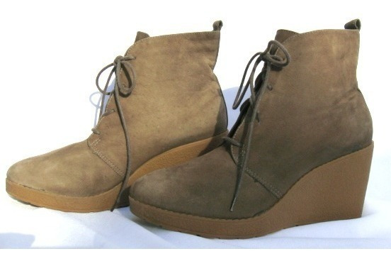 Hush Puppies Botas Botinetas 38 Cuero Gamuza Marron (ana.mar