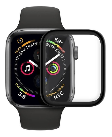 Mica/lámina Vidrio Templado 9h Borde Negro Apple Watch 42mm