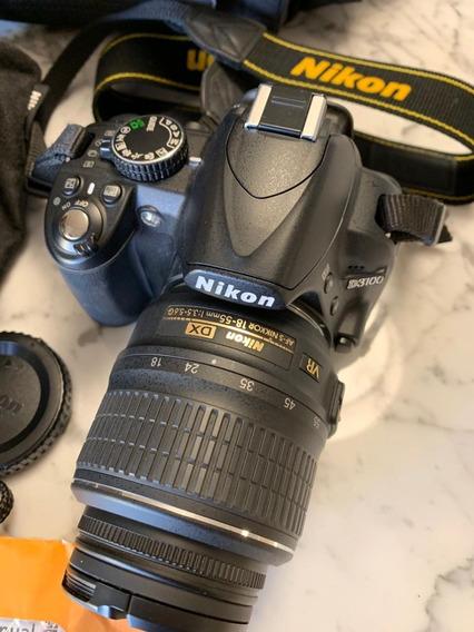 Camera Reflex Nikon D3100 Seminova + Objetiva 55 300 Maleta