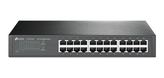 Switch 24 Portas Tp-link Gigabit 10/100/1000 (tl-sg1024d)