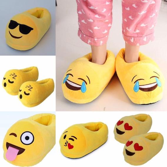 Pantuflas Emoji Talla M (34 Al 37) 10 Pares. Xinyangimport