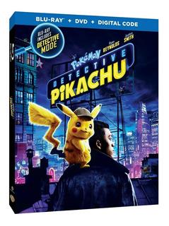 Pokemon Detective Pikachu Blu Ray + Dvd Importado Nuevo Stoc