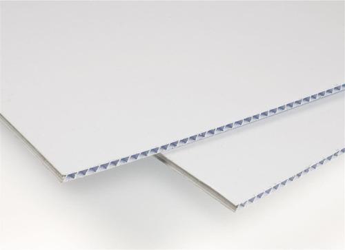 Plastico Corrugado 2,7mm 70 X 100 Cm. Blanco