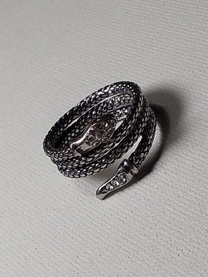 Anel Serpente Pratiada Bijuteria Zircônia