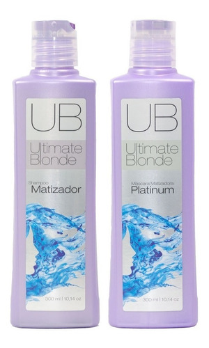 Exo Hair Ultimate Blonde Shampoo E Máscara Matizadora 300 Ml