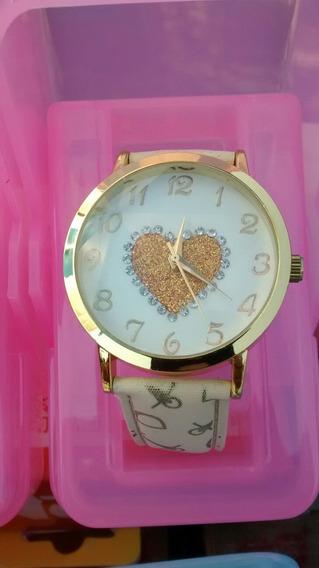 Relógio Dourado Feminino Luxo Top Bonito E Barato Promoção