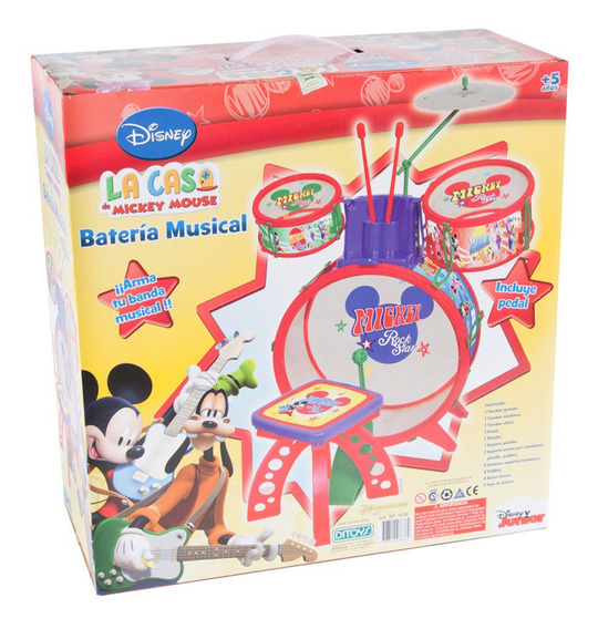 Bateria Mickey My First Band Grande Original Ditoys