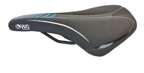 Selim Mtb Wg Sports Pto/azl Banco Bike Bicicleta Confortável