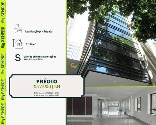 Imagem 1 de 17 de Prédio Para Alugar, 2.146 M² E 39 Vagas - Savassi - Belo Horizonte/mg - Pr0007