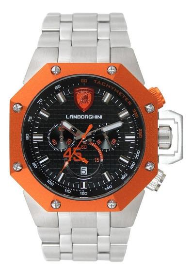 Relógio Masculino Lamborghini Lb90010663m Coleção Huracan