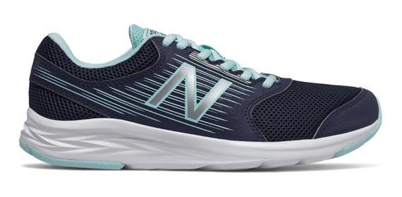 Zapatillas New Balance Running Mujer W411 Az Marino-cte Cli