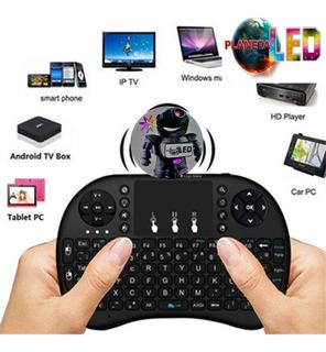 Tv Box Miniteclado Inalambrico Retroiluminado Celular Pc Tv