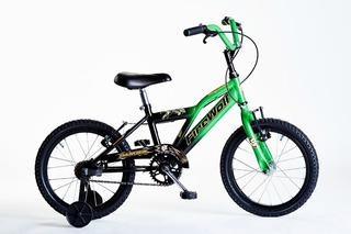 Bicicleta Rod 16 Varon Con Rueditas Garantia Varios Colores