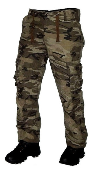 Pantalon Cargo Reforzado Unisex Camufaldo Jeans710