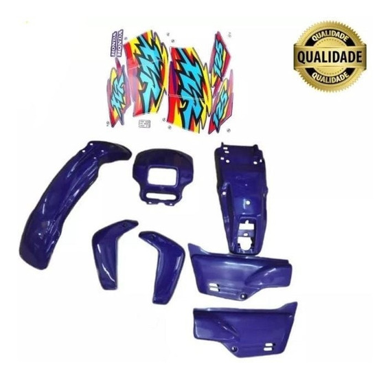 Kit Carenagem Honda Xlr 125 2000 Azul Adesivado