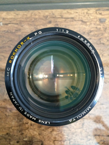 Lente Minolta Mc Rokkor - X Pg 58mm F/1.2 Abertura 1.2