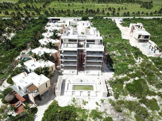 Venta Enorme Departamento Con Alberca Frente Al Mar San Bruno Yucatan