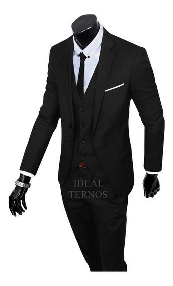 Terno Masculino Slim 4 Cores Paletó + Calça - Black Friday