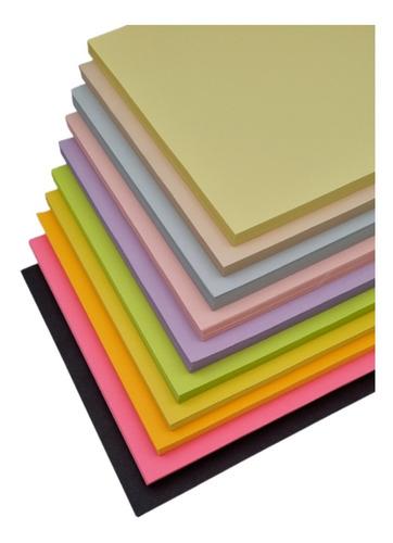 Imagen 1 de 3 de Hojas De Color Tamaño Carta, 10 Colores, Millar