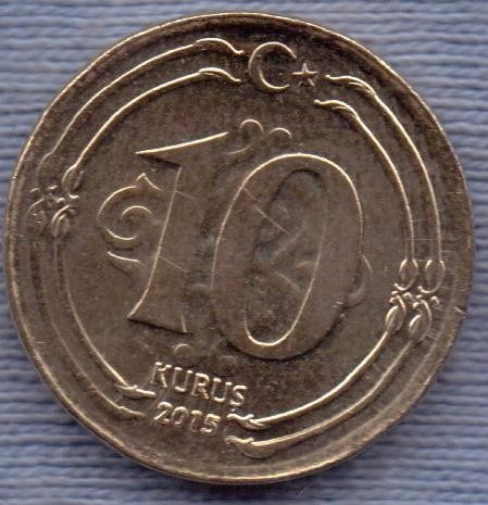 Imagen 1 de 2 de Turquia 10 Kurus 2015 * Ataturk *