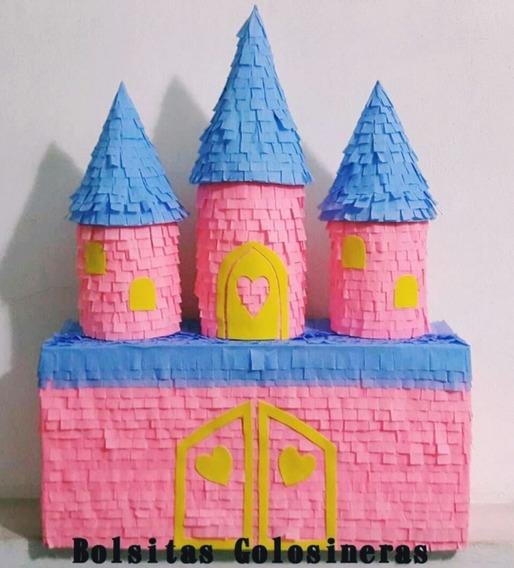 Piñata Castillo Princesas Artesanal, Cumpleaños, Candy Bar