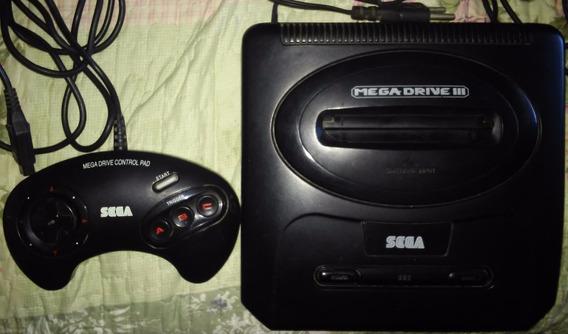 Videogame Mega Drive 3 + Controle 3 Botões Sem Cabo Av Ou Rf