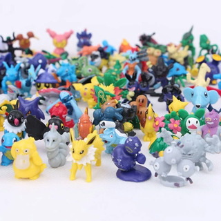 Kit Com 24 Miniaturas Pokemon Go S/repetir Bonecos 2 E 3 Cm