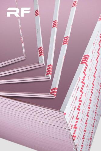 Placas De Yeso Rojas Resistente Al Fuego Novoplack 12,5 Mm
