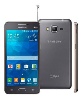 Smartphone Samsung Galaxy Gran Prime Duos Tv Cinza Com Tv Digital, Dual Chip, Tela De 5 , Câm. 8mp, Android 4.4