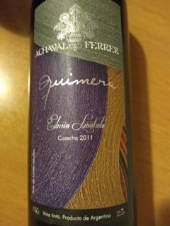 Vino Achaval Ferrer Quimera Edicion Limitada 2011